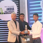 Rashid Khan gets award from HR Srinivasan and Venky Rajgopal