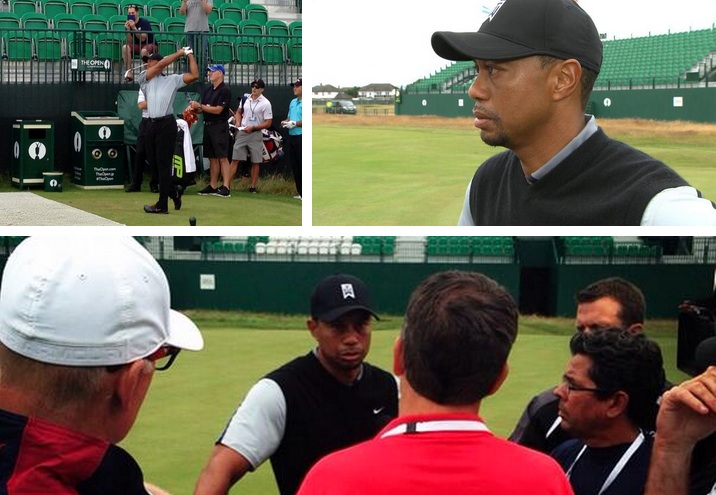 Tiger Woods left Hoylake in an optimistic mood
