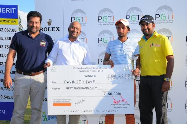 Ravinder Tavel wins PGTI Qualifying School 2015 after playoff victory over Trishul Chinappa