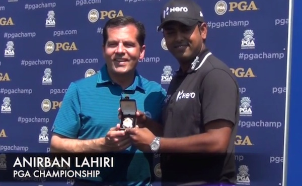 Anirban Lahiri at Long Drive Ceremony