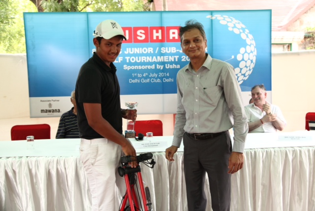 Shubham Narain and Rohan Rana win the 8th Usha DGC Juniors Golf Championship 2014