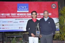 Overall Gross Winner of CWT Golf Tournament - 12 Year old Shubham Jaglan