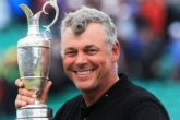 Darren Clarke poses with the Claret Jug following his victory of The 140th Open at Royal St George's