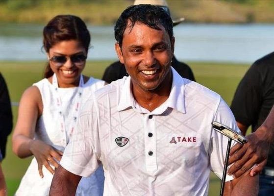 S.S.P. Chawrasia after winning Hero Indian Open 2017