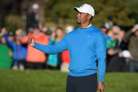 Tiger Woods in the Farmers Insurance event earlier this season