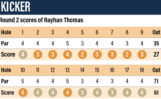 Rayhan Thomas shot 61 in the Dubai Creek Open