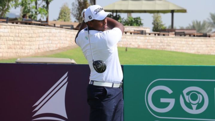 Rayhan Thomas powered into the lead with nine straight birdies