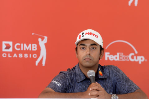 Anirban Lahiri at the CIMB Classic
