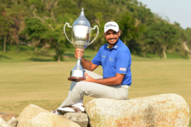 Bhullar with 2017 Macao Open Trophy