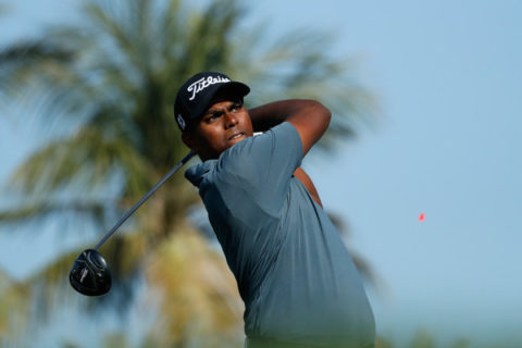 Rayhan Thomas in the Omega Dubai Desert Classic