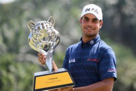 Shubhankar Sharma was over the moon with his victory in the Maybank Championship