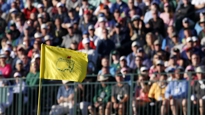 Masters 2018 - the iconic Flag stick on the pin