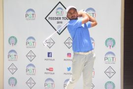 Ashbeer Saini shot three under 67 in the second round of the PGTI Feeder Tour event at the Madhuban Meadows Golf Club in Karnal