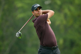 Shubhankar Sharma during the first round of the WGC Bridgestone Invitational