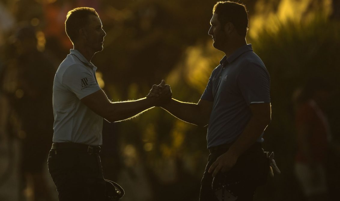 Stenson and Rahm have a share of the Hero World Challenge lead